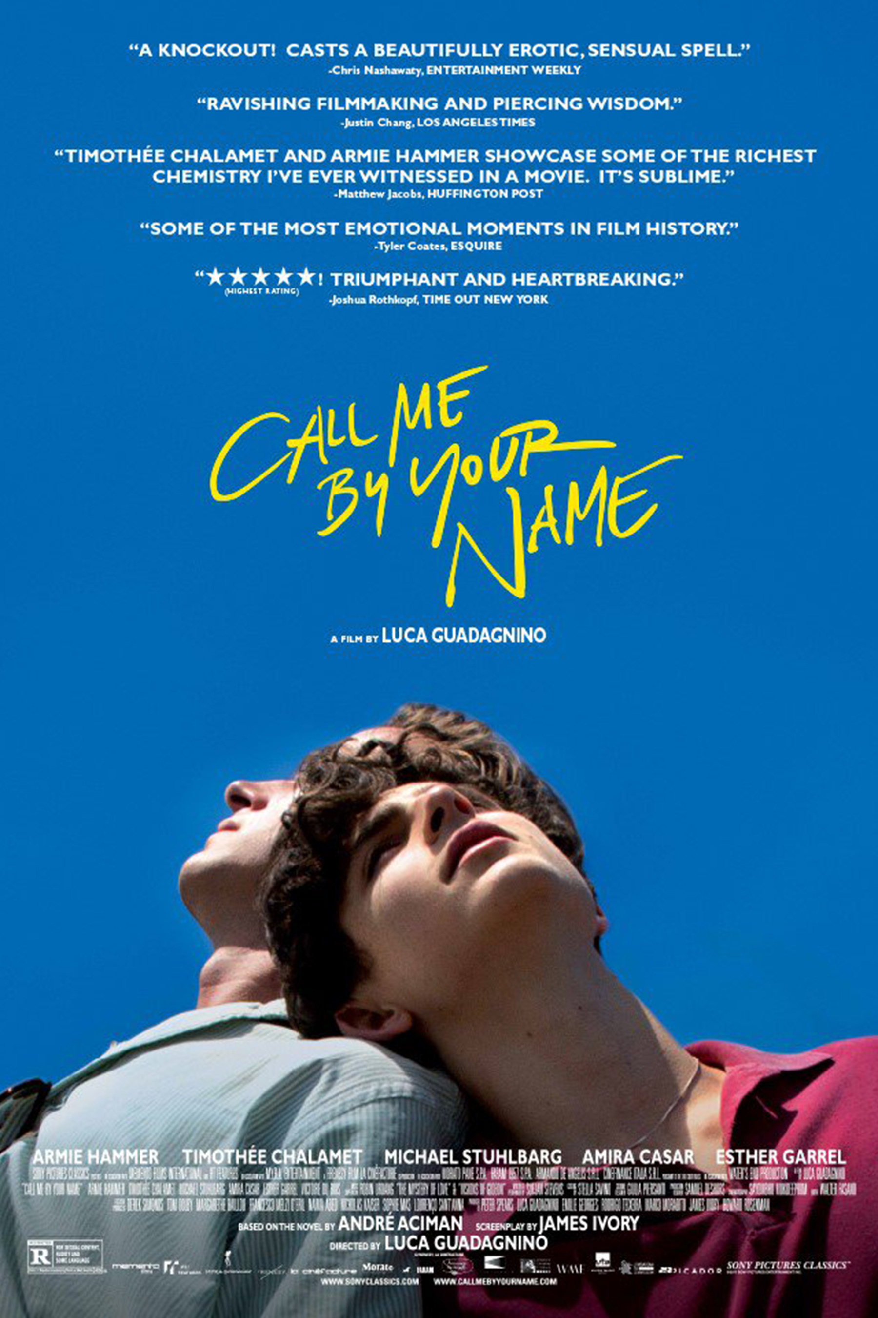 Llámame por tu nombre - Call me by your name de Luca Guadagnino